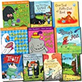 Julia Donaldson Julia Donaldson - The Gruffalo Pack, 10 Book Set, RRP:£59.90 (The Gruffalo, The Smartest Giant, A Squash and a Squeeze, Tyrannosaurus Drip, The Troll, One Mole Digging A Hole, Hippo Has A Hat, Chocolate Mousse For Greedy, One Ted Falls O