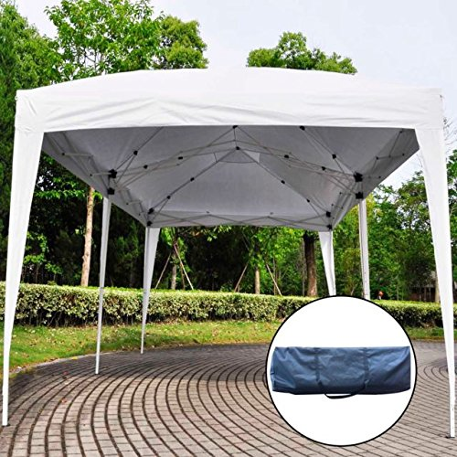 EZ POP UP Wedding Party Tent 10'X20' Folding Gazebo Beach Canopy W/Carry Bag (White) picture