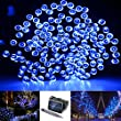 Solarmks DC-1200 Solar String Lights 200 Led Blue 72ft Solar Christmas Lights Outdoor Waterproof