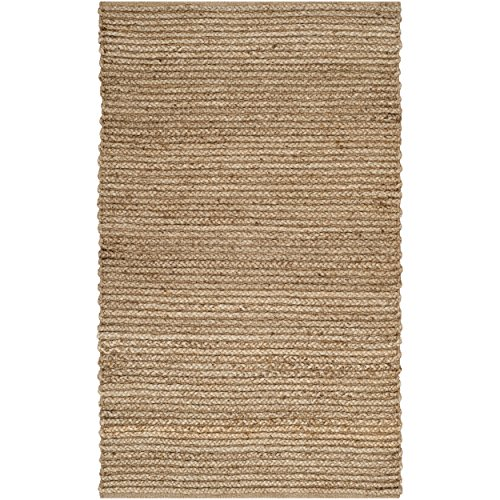 Safavieh Cape Cod Collection CAP355A Hand Woven Natural Cotton Area Rug, 2 feet by 3 feet (2' x 3')