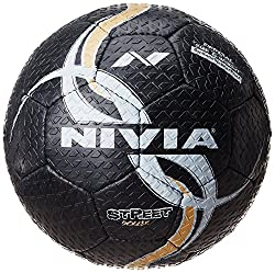 Nivia Street  Football, Size 5 (Black)