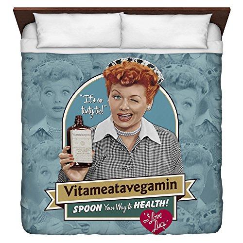 I Love Lucy Vitameatavegamin King Duvet Cover White 104X88