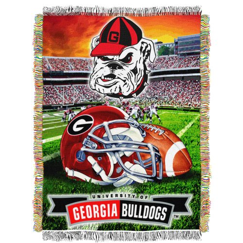Ncaa Georgia Bulldogs 48-Inch-By-60-Inch Acrylic Tapestry Throw front-871711