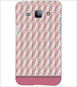 PrintDhaba Zig Zag Pattern D-1698 Back Case Cover for SAMSUNG GALAXY J1 (Multi-Coloured)