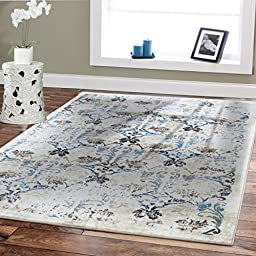 Premium Soft Rugs Contemporary Rugs Ivory 5x8 Rugs USA Fashion Modern Rugs For Living Room Blue Beige Brown Cream Area Rug 5x7 Clearance 50 Office Rug Bedroom Rugs