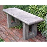Large Garden Bench - Wentworth Modern Stone Bench