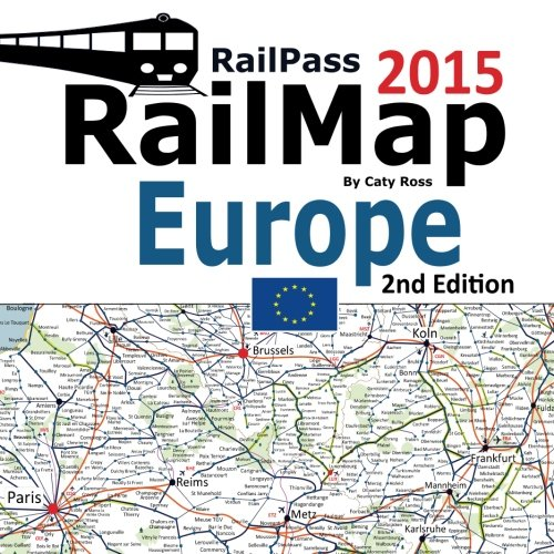 RailPass RailMap Europe 2015: Icon illustrated Railway Atlas of Europe ideal for Interrail and Eurail pass holders