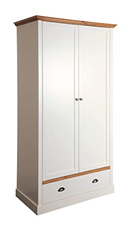 Steens Sandringham 2-Door 1-Drawer Robe, Wood, White