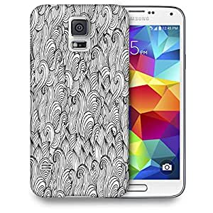 Snoogg White Abstarct Pattern Printed Protective Phone Back Case Cover For Samsung S5 / S IIIII