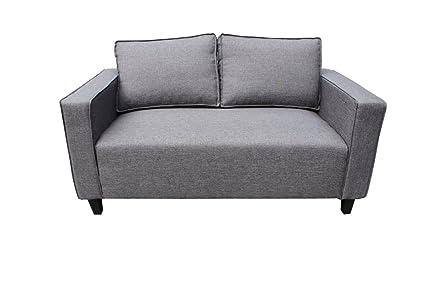 Kasper-Wohndesign KA111159 Sofa, Stoff, grau, 79 x 142 x 75 cm