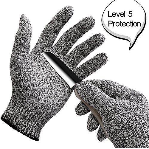 WISLIFE Cut Resistant Gloves ;Level 5 Protection, Food Grade,EN388 Certified, Safty Gloves for Hand protection and yard-work, Kitchen Glove for