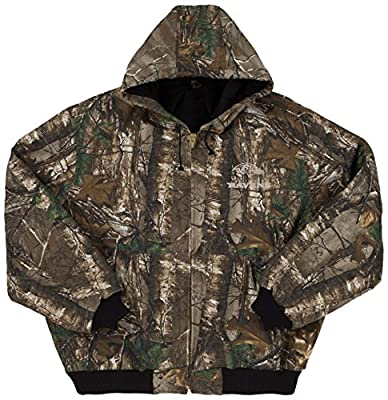 NFL Camo Cotton Canvas Quilt Lined Hooded Camoflauge Jacket