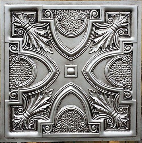 PL11 peint imitation argent antique dalles de plafond en relief Décoration Café pub shop 10pieces/Panneaux muraux lot