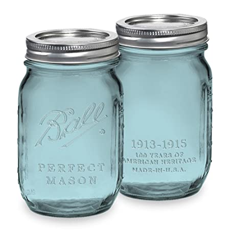 Ball Jar Heritage Collection Pint Jars with Lids and Bands