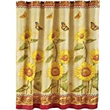 Butterfly and Sunflower Shower Curtain