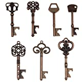 Key Bottle Openers - Assorted Vintage Skeleton Keys, Wedding Party Favors (Pack of 70, Copper)