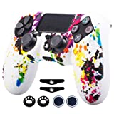 Sololife PS4 Controller Skin Grip Anti-Slip Silicone Cover Protector Case for Sony PS4/PS4 Slim/PS4 Pro Controller with 4 Thumb Grips (Color: Graffiti1)