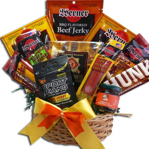 Art of Appreciation Gift Baskets Manly Mans Meat and Snack Attack Gift Basket (Gift Basket Men compare prices)