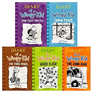 Diary of a Wimpy Kid Childrens Collection Jeff Kinney 5 Book Set 5-9 PB NEW