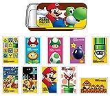 スーパーマリオメーカー スライド缶ケース付きステッカー A BOX商品 1BOX = 6個入り、全10種類