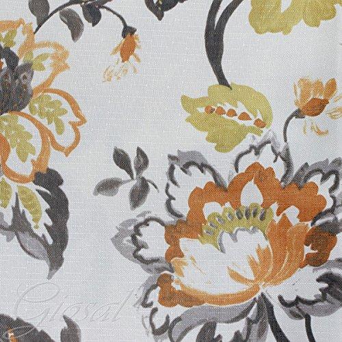 tessuto-arredo-fantasia-fiore-tappezzeria-copritavola-divano-cuscino-giosal-arancione-al-metro
