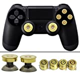 YTTL® Thumbsticks Bullet Buttons and Bullet ABXY Buttons Set for PlayStation 4 DualShock 4 Wireless Controller PS4 Controller