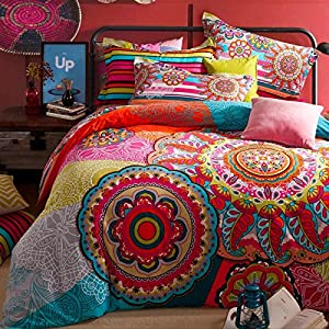 Brandream Boho Bedding Set Bohemian Duvet Covers Bohemian Bedding