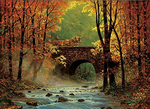 Autumn Bridge a 1500-Piece Jigsaw Puzzle by Sunsout Inc.