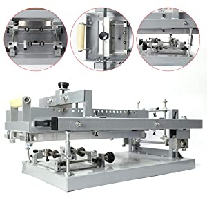 Curved Manual Screen Printing Station, Manual Surface Curve Screen Printing Cylinder Machine Single Color New Used Round Press for Bottle/Pen Face Curved Glass Presses (Color: Single Color)