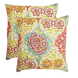 Waverly Kings Turban 2-Pack Decorative Red Pillows, 20x20
