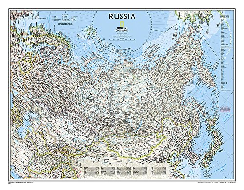 Russia Classic, Tubed: NG.P622091 (National Geographic Reference Map)