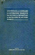 La litterature francaise, manuel pour la…