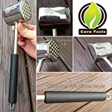 Meat Tenderizer Mallet Tool - DISHWASHER SAFE & LIFETIME GUARANTEE - Manual Hammer Pounder For Tenderizing Chicken Steak Pork & Veal in Kitchen - Professional Non Slip Silicone Handle for Pounding