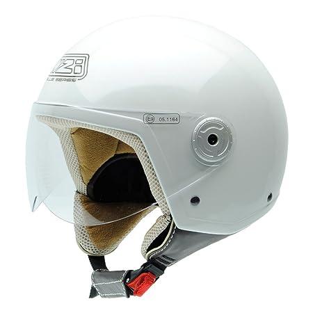 NZI 150251G284 Vintage II PW Casque de Moto, Blanc Perle, Taille : S