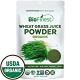 Biofinest Wheat Grass Juice Powder - Pure Freeze-Dried Chlorophyll Superfood - USDA Organic (4oz) (Tamaño: 4  Ounces)
