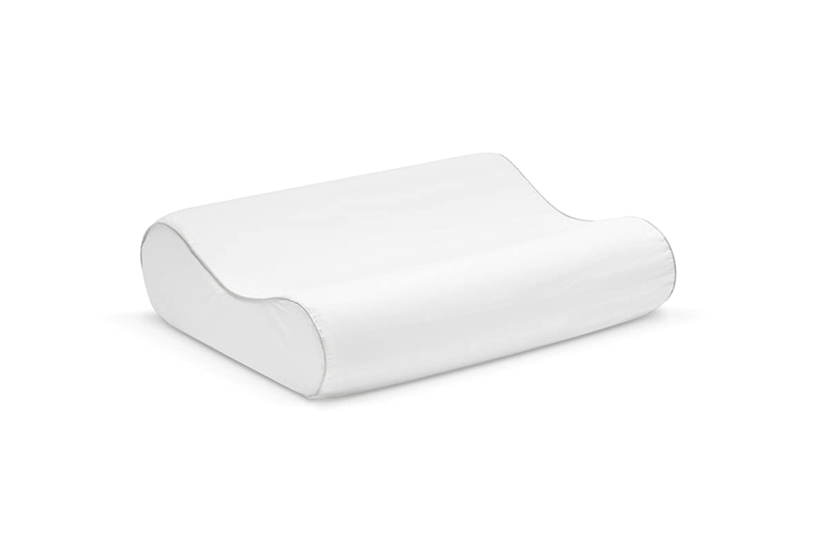 Sleep Innovations Contour Memory Foam Pillow with 100% Cotton Cover, Made in the USA with a 5-year Warranty - Standard Size