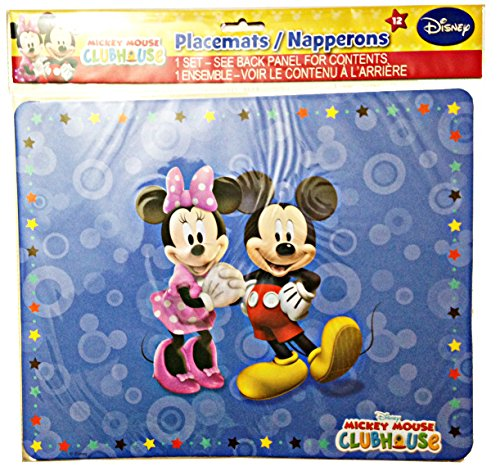 Disney Mickeymouse Clubhouse Placemats - 12 Per Pack