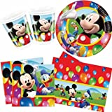 Mickey Mouse Party Time Party Pack for 10, Cups, Plates, Napkins & Tablecover