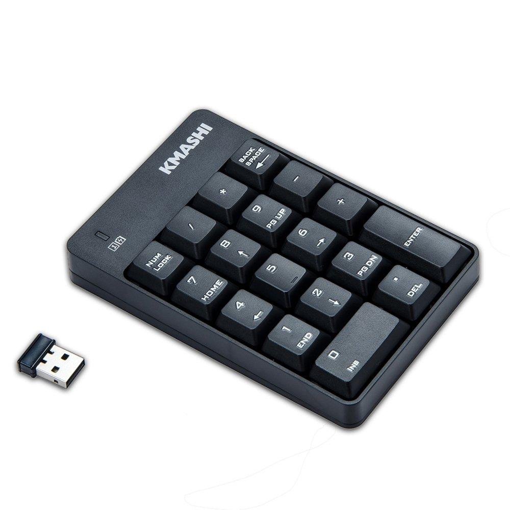 Kmashi Financial Accounting Ultrathin USB 2.4G Mini Wireless Nano Receiver Numeric Pad Touchpad 18 Keys Numerical Keyboard Keypad for iMac Win 7 8 10 Xp 2000 Vista Tablet Laptop Desktop PC Computer