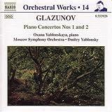 Glazounov : intégrale des oeuvres pour orchestre, vol.14 : concertos pour piano