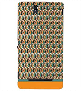 PrintDhaba Owl Pattern D-1681 Back Case Cover for SONY XPERIA C3 (Multi-Coloured)