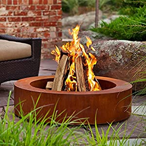 Amazon.com : Real Flame Orbea Corten Fire Pit : Patio, Lawn & Garden