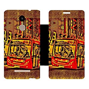 Skintice Designer Back Cover with direct 3D sublimation printing for Xiaomi Redmi Note 3