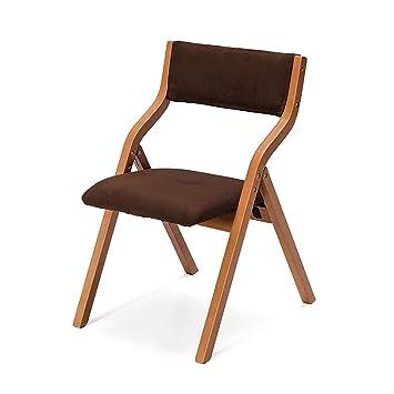 silla plegable Silla plegable de madera Silla plegable de madera maciza Silla plegable de comedor Dinette Silla simple moderna de reunión Silla de tela clásica silla plegable cocina ( Color : 8# )