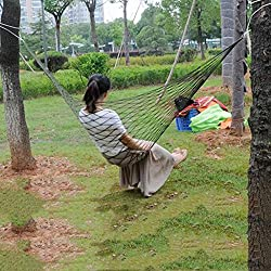 Magideal Nylon Hammock Hanging Mesh Sleeping Bed Swing Outdoor Travel Camping G