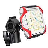 Bike Mount, GreatShield EZ-Grip 360 Degree Rotating Metal Base Bicycle Handlebar Cradle Clamp Holster for iPhone X/8 Plus/8, Galaxy Note 8/S8 Plus, Moto G5/G5 Plus, LG V3, Nokia 6, Google Pixel 2/2 XL