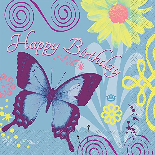 Butterfly Birthday Luncheon Napkins (16-pack) - 1