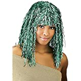 Adult Green Tinsel Costume Wig