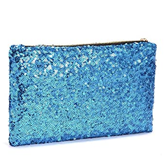 Taiycyxgan Ladies Dazzling Glitter Sparkling Sequins Evening Party Clutch Bag Handbag Purse