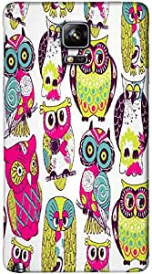 Timpax Light Weight One-piece construction Hard Back Case Cover Printed Design : A gang of owls.100% Compatible with Samsung Galaxy Note 4 ( SM-910U )